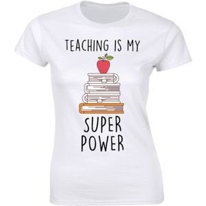 Teaching Is My Super Power Many Books Tee T-shirt